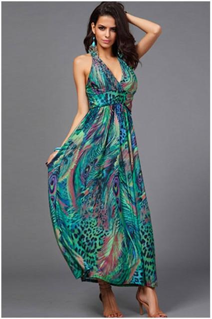 Peacock Maxi Dress