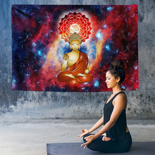 Ombre Chakra Tapestry Psychedelic Mandala Wall Hanging Hippie Buddha Galaxy Rugs Yoga Cloth