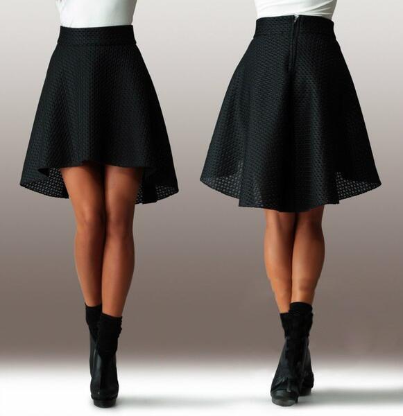 b61f49d46 € 11.77 |Nuevas mujeres de la falda asimétrica faldas mujer de cintura alta  plisado Midi faldas Organza Saia Feminino tutú de la falda en Faldas ...