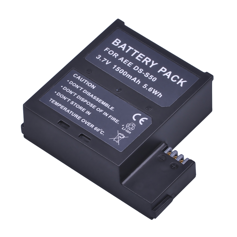 Batmax 1Pc 1500mAh DS-S50 DSS50 S50 Battery Pack Accu for AEE DS-S50 S50 Battery AEE D33 S50 S51 S60 S71 S70 Cameras ...