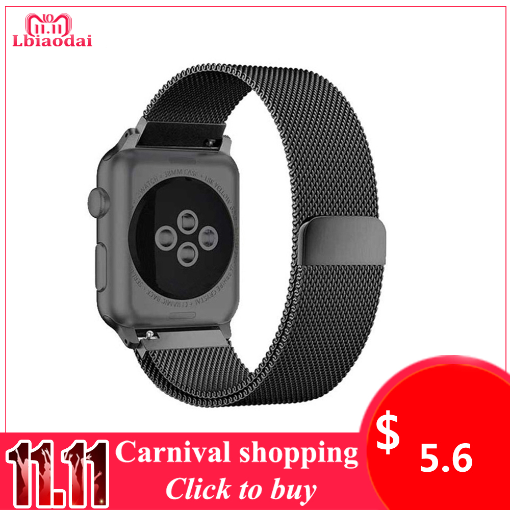 Milanese Loop Strap For Apple Watch Band 42mm 38mm 44mm 40mm Stainless steel Magnetic buckle watchband bracelet iwatch 4 3 2 1 все цены