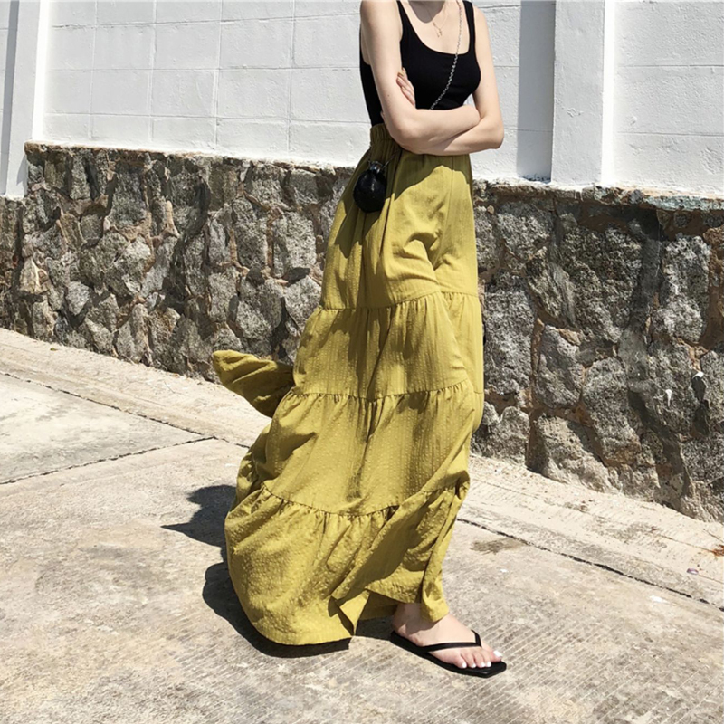 Summer women's trousers casual solid color stitching   wide     leg     pants