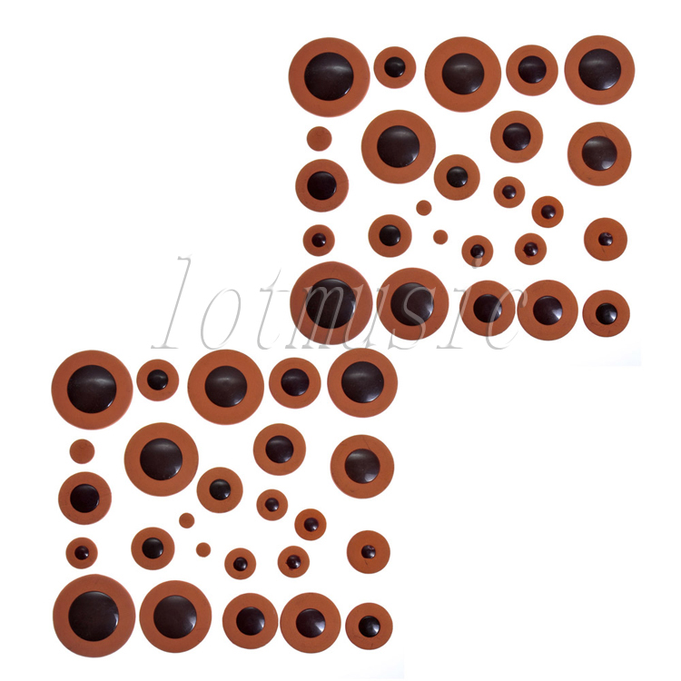 2Set Deluxe Tenor Saxophone Pads Orange Leather Pad for Yamaha Size Replacement2Set Deluxe Tenor Saxophone Pads Orange Leather Pad for Yamaha Size Replacement