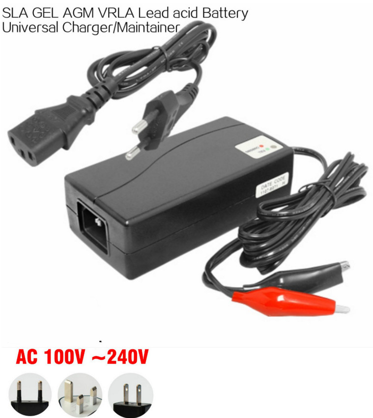 wholesale 12v 1 8a car battery charger for 7 14ah sla agm. Black Bedroom Furniture Sets. Home Design Ideas
