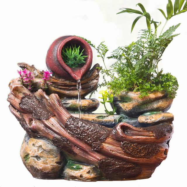 Feng Shui Indoor Water Fountain Water landscape home decoration indoor fleshier plant bonsai lucky water landscape home decoration indoor fleshier plant bonsai lucky rockery water fountain luck feng shui humidifier workwithnaturefo