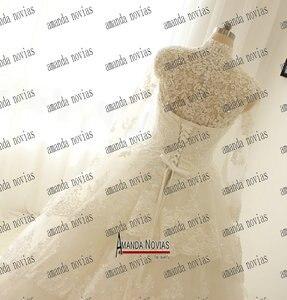 Image 2 - Collo alto In Pizzo Giacca Maniche Lunghe In Pizzo Abiti Da Sposa