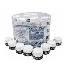 Alpha – pinces de Tennis en PU souple et sec, 0.7mm, 60 pièces/lot, bandeau anti-transpiration, pour raquette de Badminton