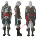 Express Shipping Assassin IV 4  Creed Black Flag Edward Kenway Anime Cosplay Costume Whole Set Custom Made
