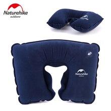 NH Portable inflatable pillow camping u type pillows train airplane travel neck pillow cervical pillows недорого