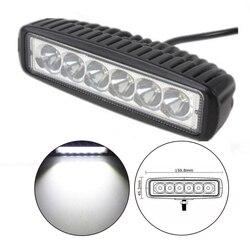 Dla J/prowadzą 12 v 2 sztuk 6 Cal powodzi pojedynczy rząd 18 W 4x4 ciężarówka offroad samochodów LED robocza listwa oświetleniowa|Belki oświetleniowe/lampy robocze|Samochody i motocykle -