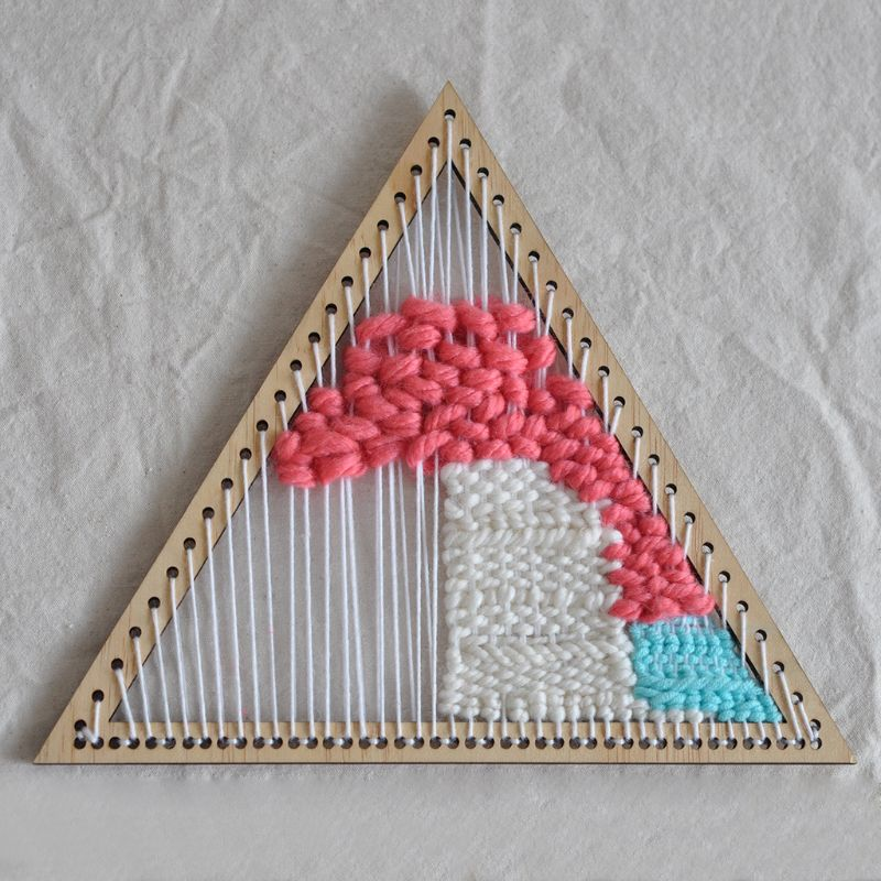 Handmade Woven Tools Hanging Decoration weaving loom wooden triangle  knitting