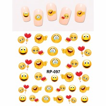 Nail Art Beauty Sticker Water Decal Slider Cartoon Smiling Funny Faces Cookies Dolls Rp097 102