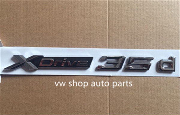 One pair of ABS Chrome Car XDrive Logo Emblem Trim Styling Sticker X Drive for BMW x-drive 35d For X1 X3 X4 X5 X6 1pc car sticker for bmw motorcycle car styling stall paste m logo interior gear head stickers fit for bmw m3 m5 m6 x1 x3 x5 x6