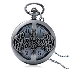 Cool Batman Quartz Pocket Watch With Necklace Chain Gifts