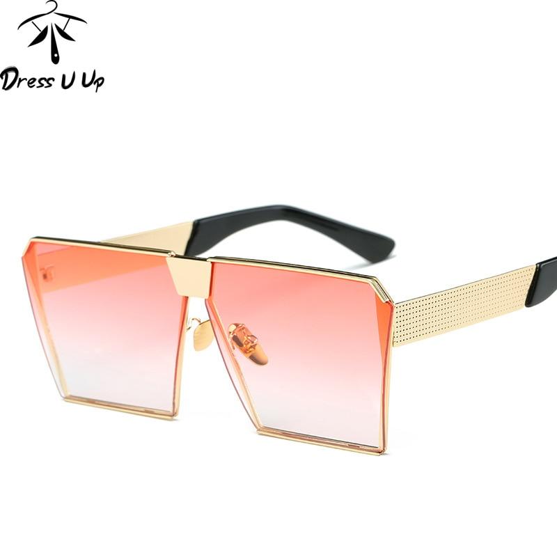 DRESSUUP New Square Sluneční brýle Dámské Značkové Značkové Velkoformátové Gafas Vintage Jasné sluneční brýle Muži Oculos De Sol Feminino Gafas