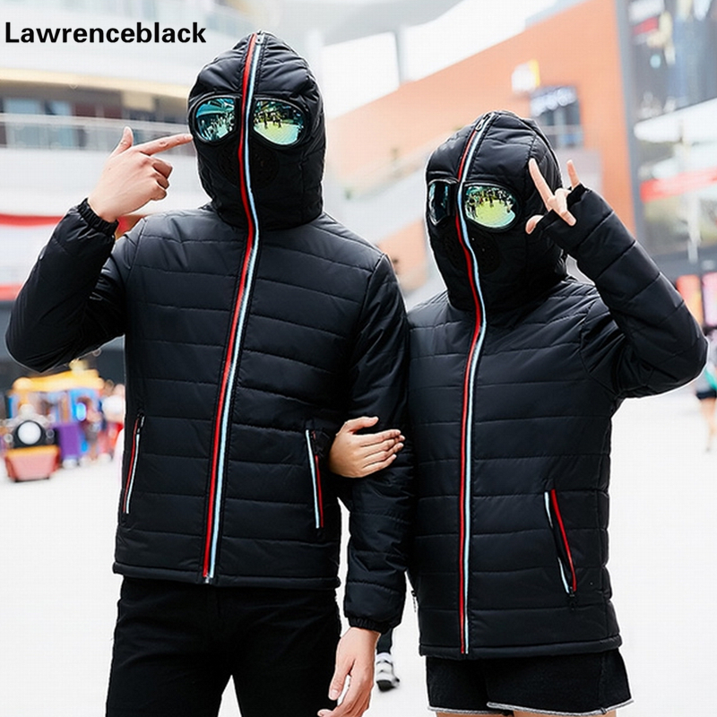 Hooded Design Winter Men Down Jacket Thick Warm Cotton Coat Male Windbreaker Quilted Padded Coat with Glasses Lover Overcoat 107 long coat womens jacket new printing was thin down cotton padded thick coat windbreaker