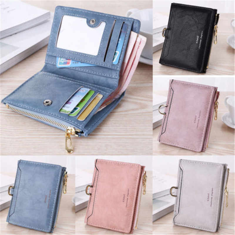 be8fd59f45 Detail Feedback Questions about six colour new US Womens Leather Small Mini  Wallet Card Holder Zip Coin Purse Clutch Handbag With delicate rings on ...
