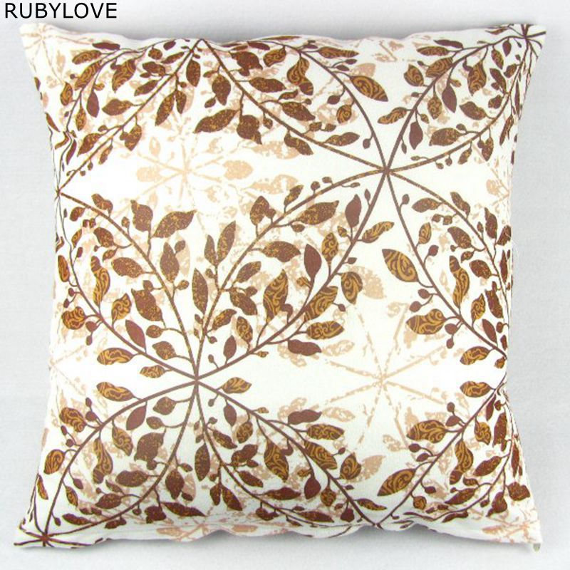 1pcs Multi-colored Leaves Throw Pillow Case Home Sofa Decor Cushion Cover Cotton 20 50cmx50cm Sofa Decor PI09