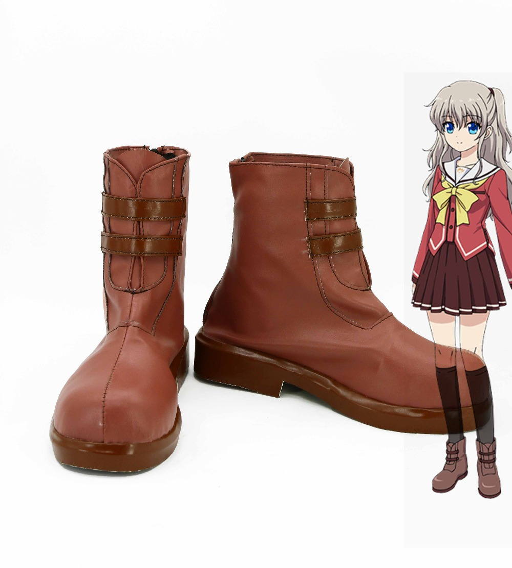 Shoes Painstaking Japanese Anime Charlotte Tomori Nao Yusa Nishimori Cosplay Costume Boots Girls Shoes