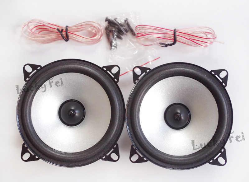 1 пара, 4-дюймовый автомобильный динамик, автомобильный Hi-Fi Полнодиапазонный динамик с пузырьковыми краями
