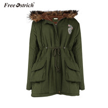 Free Ostrich Parkas Winter Warm Women Thick Jacket Pockets Fur Hooded Coat Lined Slim Long Sleeve Oversized Coat L2135