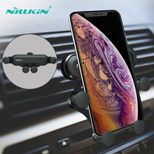 NILLKIN Phone Holder Stand For iPhone 8 X 7 Gravity Samsung S9 S8 Support 4-6.5 Inch In Car Air Vent Clip