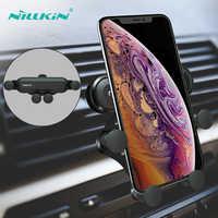 NILLKIN Support pour téléphone Support pour iPhone 8X7 Support de téléphone par gravité pour Samsung S9 S8 Support 4-6.5 pouces Support dans Clip d'aération de voiture