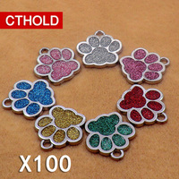 Personalized 100pcs/lot Pet Dog ID Tag Alloy Material Customized Engraved Name Telephone Address Anti Lost Fashion Collar