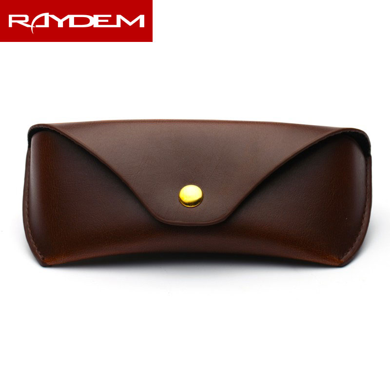 2018 Lentes De Contacto Real Sale Direct Selling Solid Unisex The Version Of Glasses Box Button Leather Sunglasses And Portable