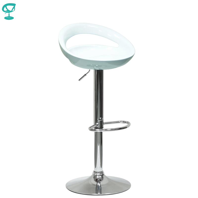 94155 Barneo N-6 Plastic High Kitchen Breakfast Bar Stool Swivel Bar Chair White Free Shipping In Russia