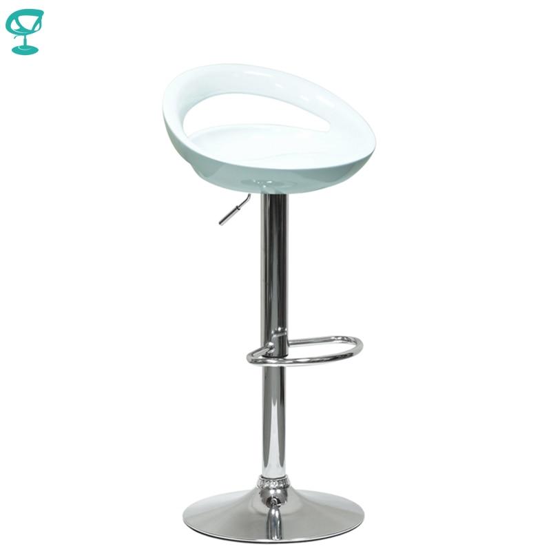 94155 Barneo N-6 Plastic High Kitchen Breakfast Bar Stool Swivel Bar Chair White Free Shipping In Russia