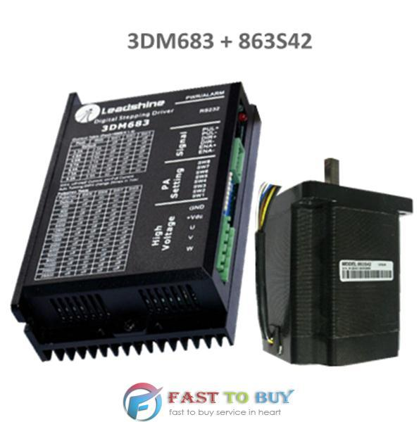 3-phase Stepper Motor Drive 3DM683 + 863S42 4.2 N.m New [joy] hakusan original stepper motor drive 4257 series drive maximum 64 aliquots voltage 15v 40 2pcs lot