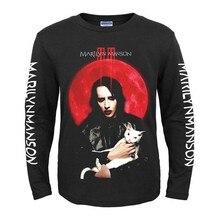 Bloodhoof Marilyn Manson Industriële Metal Death Metal Rock Mannen Zwarte Nieuwe Lange Mouw T shirt Aziatische Grootte