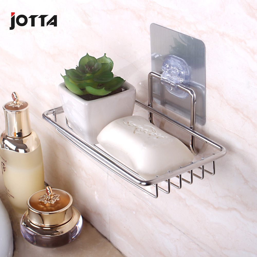 Stainless steel perforation-free soap box creative asphalt rack bathroom water filter placement