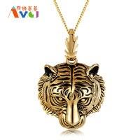 Mát Mẻ nhất Jewelry Tiger Mặt Dây Chuyền Vòng Cổ For Men Titanium Steel Tiger Head Necklace Punk Nam Động Vật Trang Sức Quà Tặng Phong Cách Hiphop