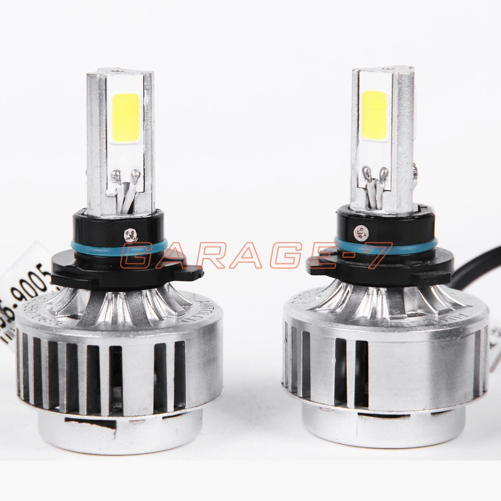 ФОТО One pair of high-quality LED headlights all in a A336 9005 car LED headlights fog 3 COB 3300LM 6000K LED headlamp