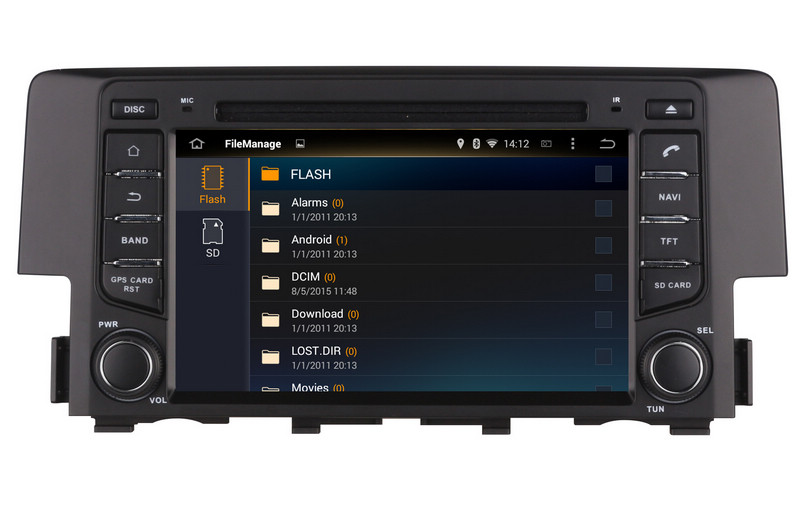 Android 7.1 Car DVD Player GPS Navigation For Honda Civic 2016 With  Navigator Radio BT AUX DVR WIFI Video Stereo 4Core 2G RAM In Car Multimedia  Player From ...
