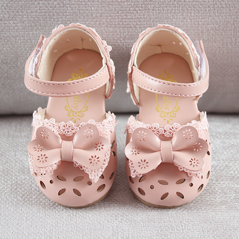 HTB1ZL9GbzfguuRjSspaq6yXVXXa5 - Newest Summer Kids Shoes Fashion Leathers Sweet Children Sandals For Girls Toddler Baby Breathable Hoolow Out Bow Shoes