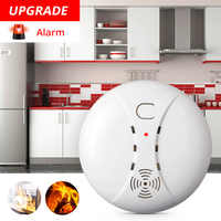 FUERS Home Security Smart Wireless Independent High Sensitive Smoke Fire ASK Alarm Sensor Detectors Low Battery Reminder Protect