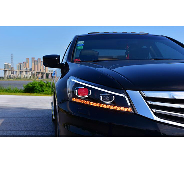Vland Led Front Head Light Fit For Honda Accord Headlights 2008 2009 2010 2017 Lamp Stripe Bi Xenon Beam In Car Embly From
