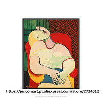 Painting Wall Art One Piece Pablo Picasso Famous Oil Painting Artwork For Room Decor Living Room