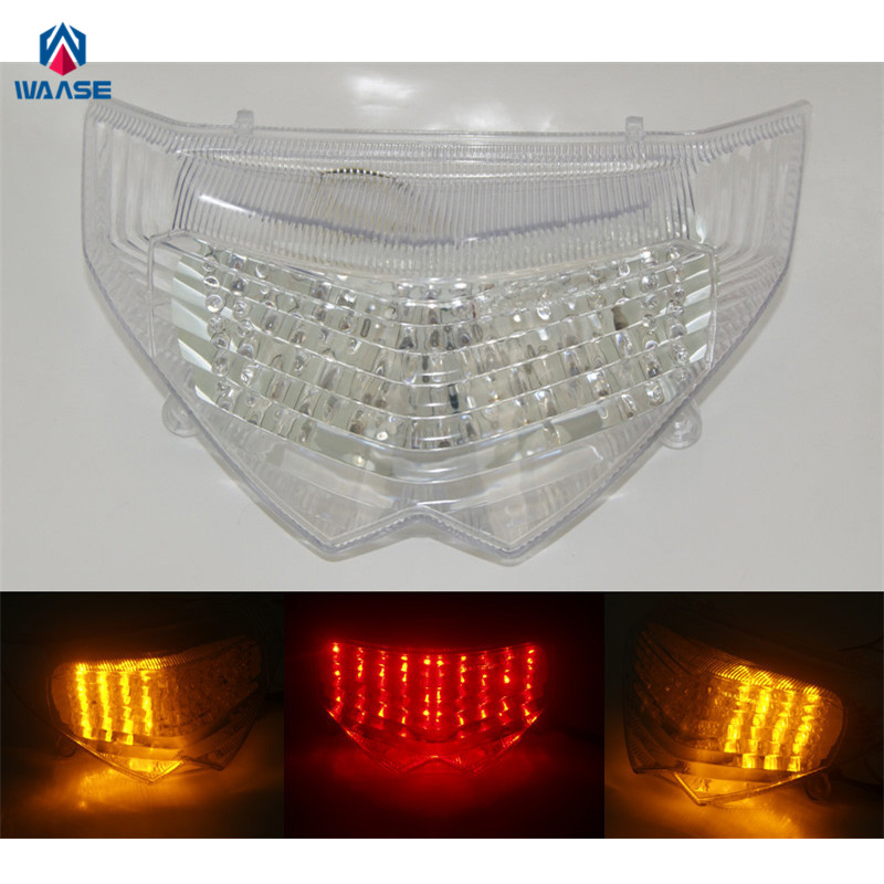 waase For Suzuki Bandit 1200S <font><b>GSF1200S</b></font> 2006 2007 2008 2009 2010 E-Mark Rear Tail Light Brake Turn Signals Integrated LED Light image