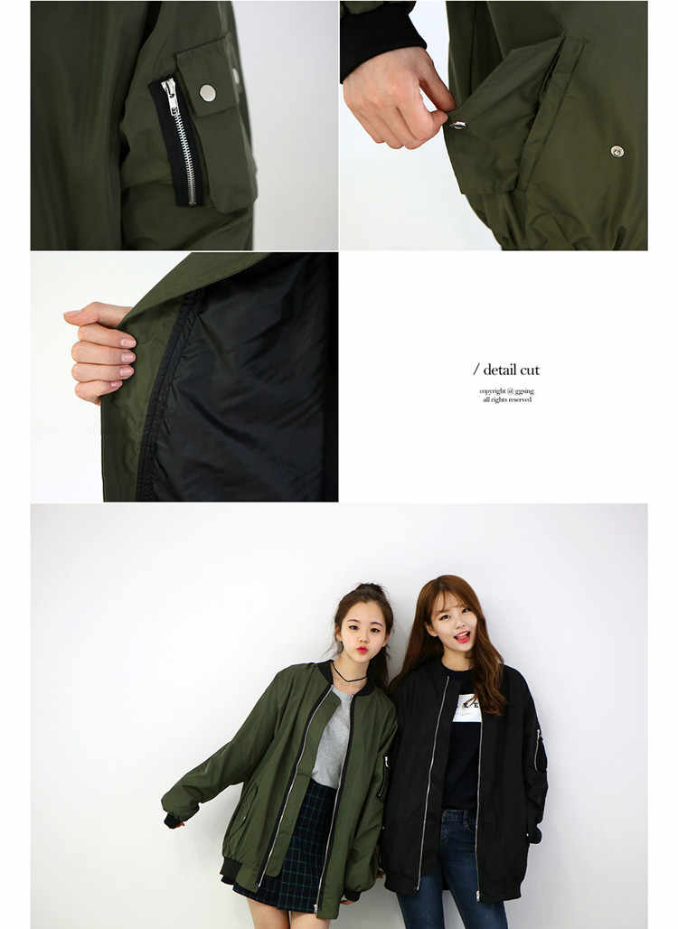 074dd4ccfe9 ... new girls bomber jacket coat baseball loose long jacket coat female  girls jaqueta feminina casaco feminino ...