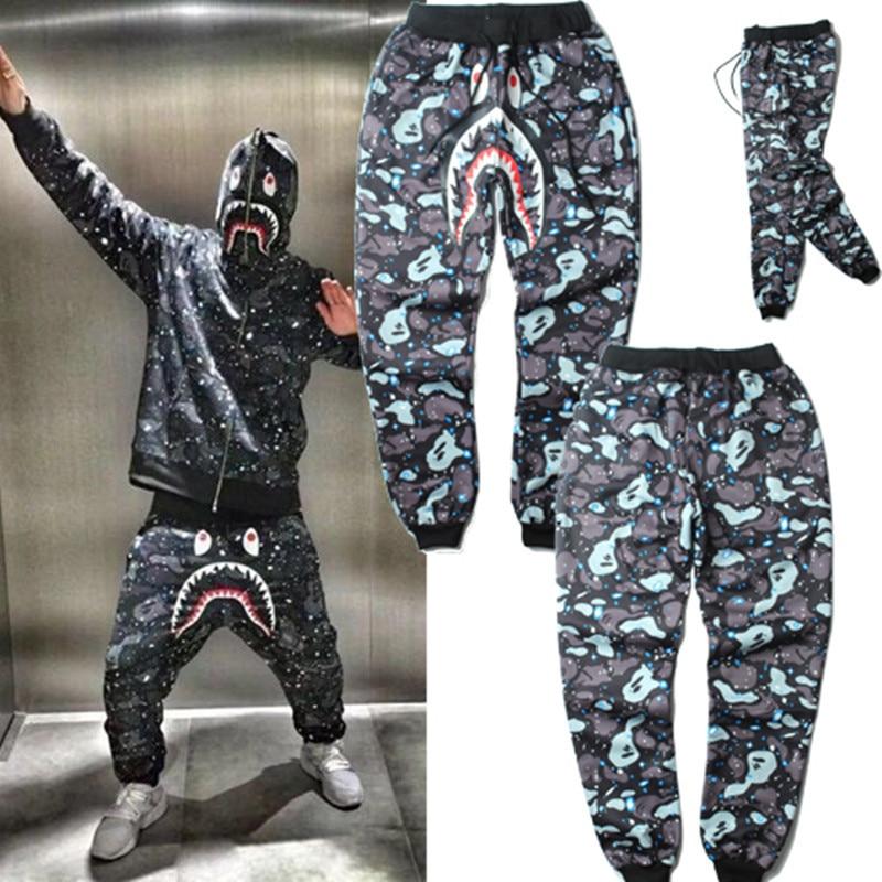 Winter camouflage sweatpants gymshark full length Baggy harem pants men  drawstring fashion hiphop bape cargo mens trouser z10 832f64df810b