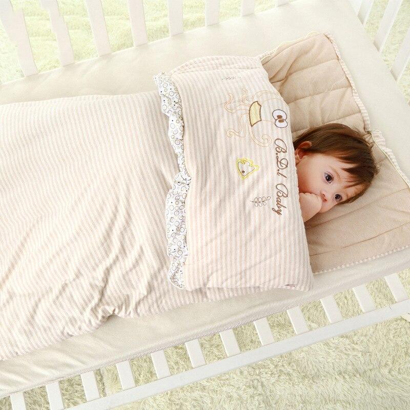 все цены на New Cotton Newborn Sleeping Bag Cute Cartoon Swaddle Blanket Wrap Bedding Baby Sleeping Bag Children Stroller Bed Sleepsacks онлайн