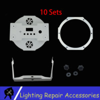 10 Sets Stage Lights Accessories White Shells ABS Plastic Case For 7x12w 7x10w 7x18w 12x12w Stage Light Housing