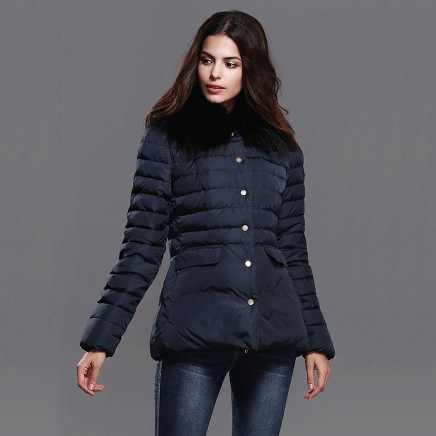 ФОТО Parkas For Women Winter 2016 Slim Short paragraph Fur Collar hooded Black Cotton Down Jacket Plus Size M-XXL