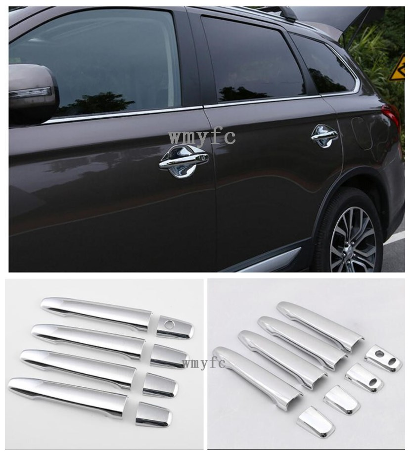 For Mitsubishi Outlander 2016 2017 2018 car body cover protect detector sticks frame font b lamp