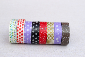 300pcs 2014 Printed Glitter tape new design Japanese Masking washi tape for the decoration by free shipping