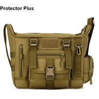 Protector Plus Deportes Al Aire Libre Bolsa de Camuflaje Táctico Militar de Nylon Bolsa Ipad Bolsa de Ordenador Portátil de Hombro de Los Hombres Bolsa de Mensajero S385